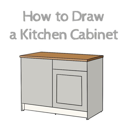 How to draw a Kitchen Cabinet