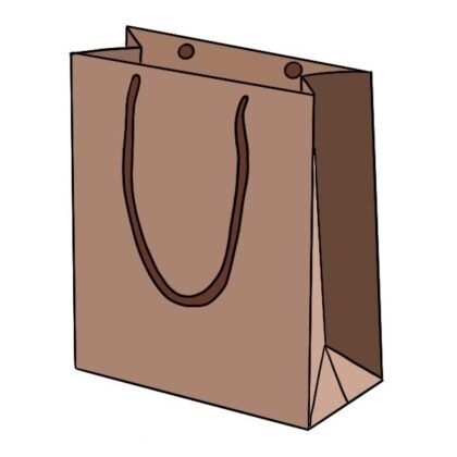 How to draw a easy paper bag