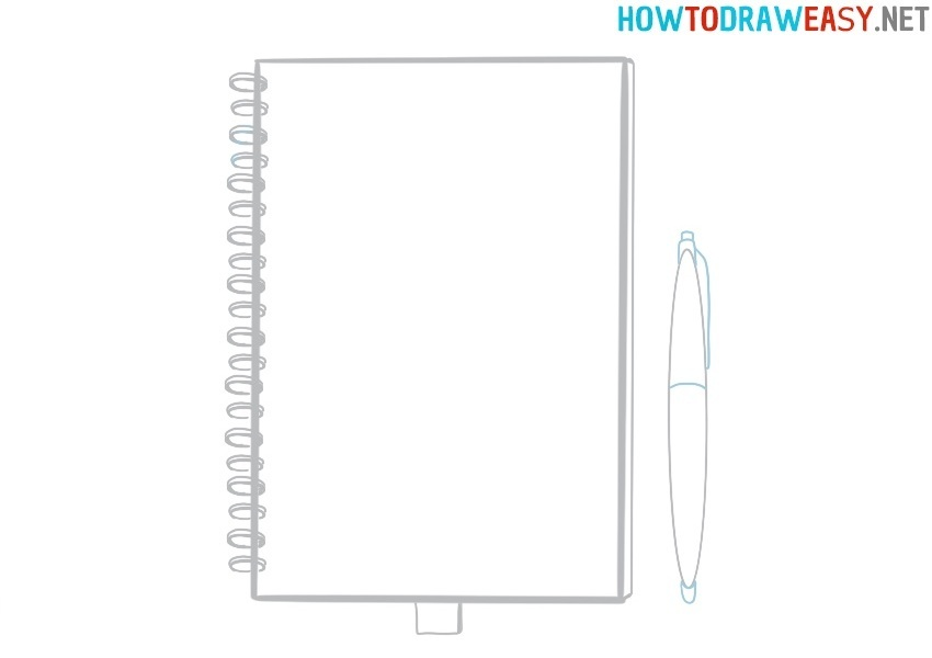 How to draw a notebook easy step by step