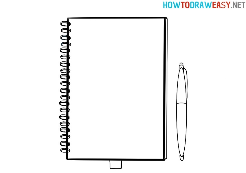How to draw a notebook easy