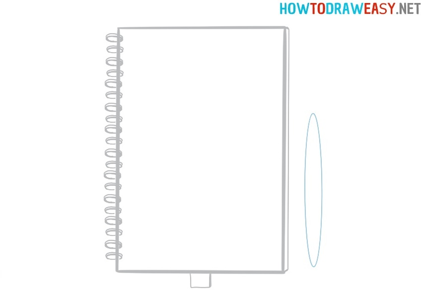 How to draw a notebook for kids