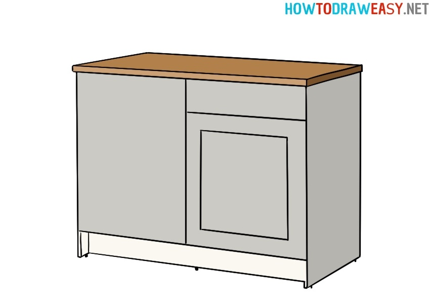 Kitchen Cabinet drawing lesson