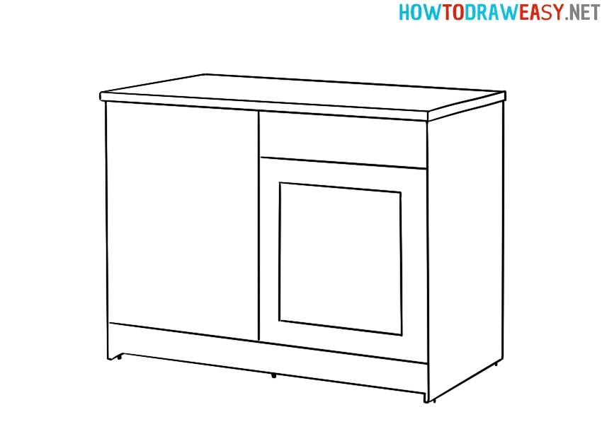 Kitchen Cabinet drawing tutorial