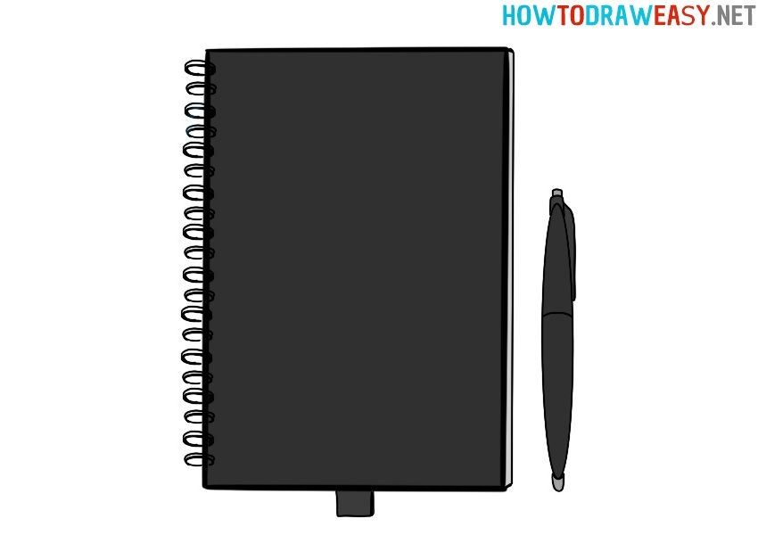 Notebook drawing lesson
