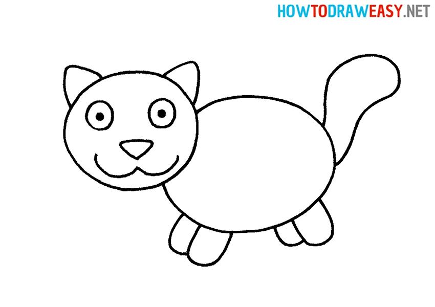Cat Easy Drawing Tutorial
