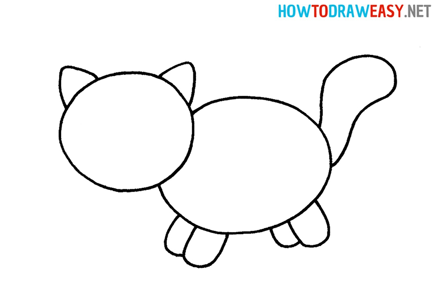 Draw a Cat For Kids