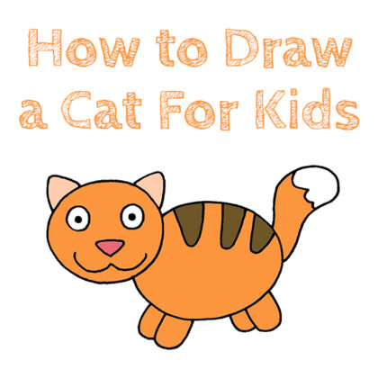 How to Draw a Cat For Kids Tutorial