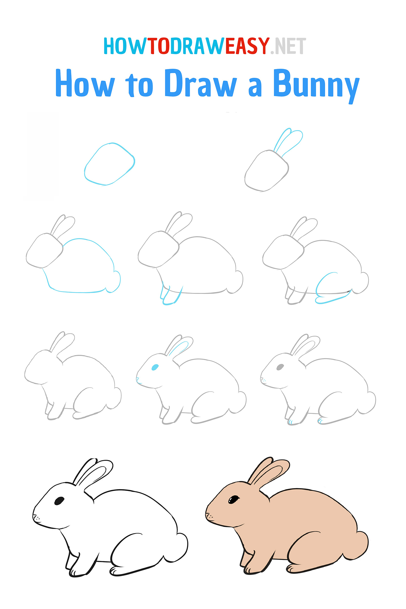 How to Draw a Bunny   How to Draw Easy
