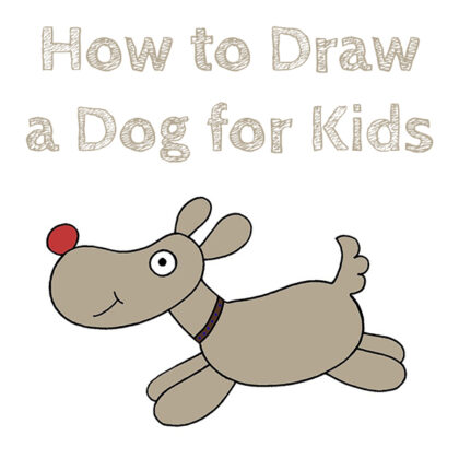 Learn How to Draw a Dog for Kids