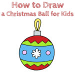 How to Draw a Christmas Ball for Kids