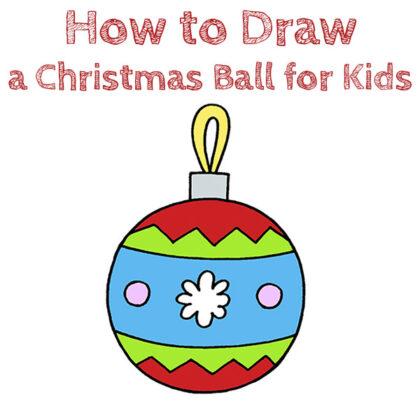 Christmas Ball Drawing Tutorial