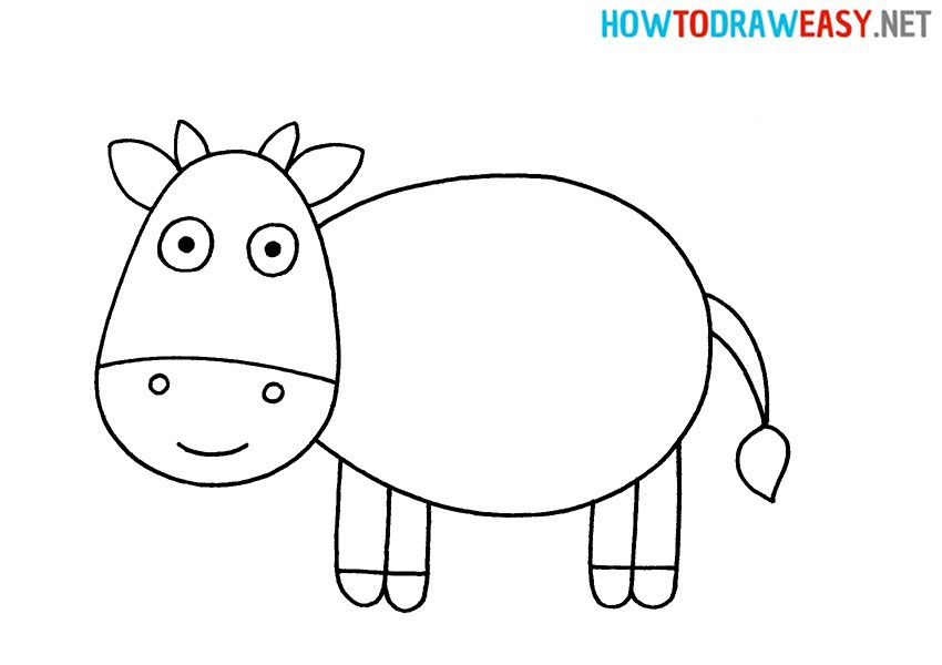 Cow Easy Drawing Tutorial