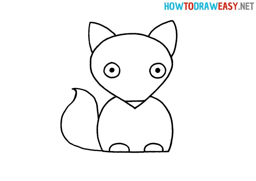 Draw a Fox For Kids