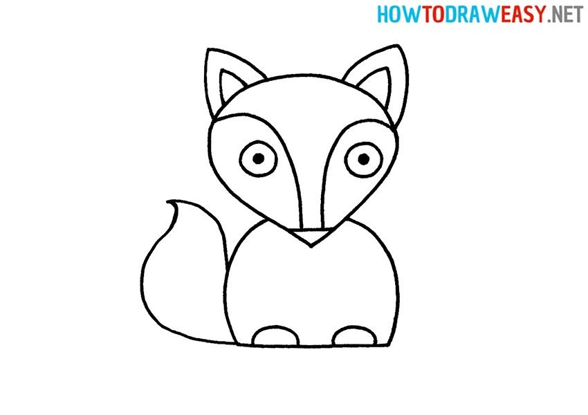 Fox Easy Drawing Tutorial