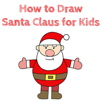 How to Draw Santa Claus for Kids