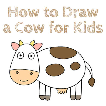 How to Draw a Cow for Kids Tutorial