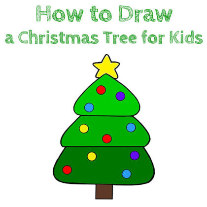 How to Draw a Easy Christmas Tree