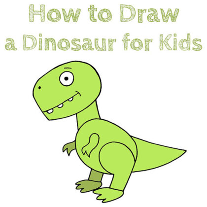 How to Draw a Easy Dinosaur