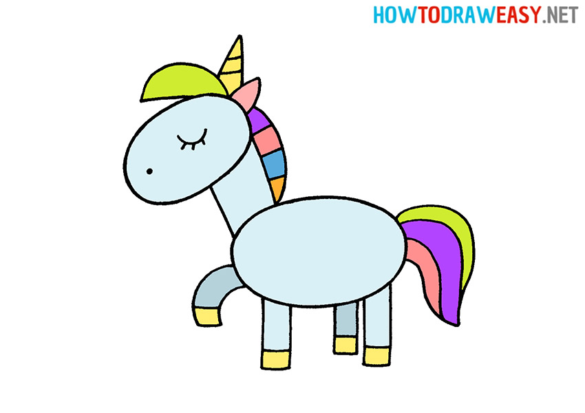 How to Draw a Easy Unicorn