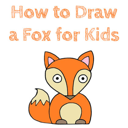 How to Draw a Fox For Kids Tutorial