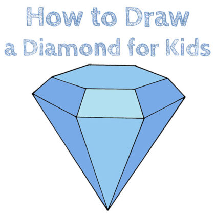 How to draw a simple diamond