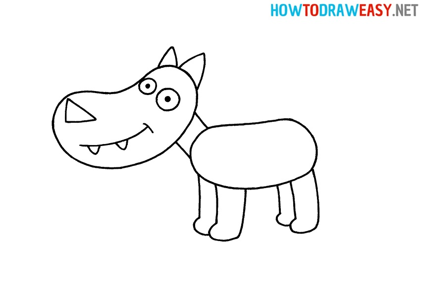 drawing lesson wolf for kids