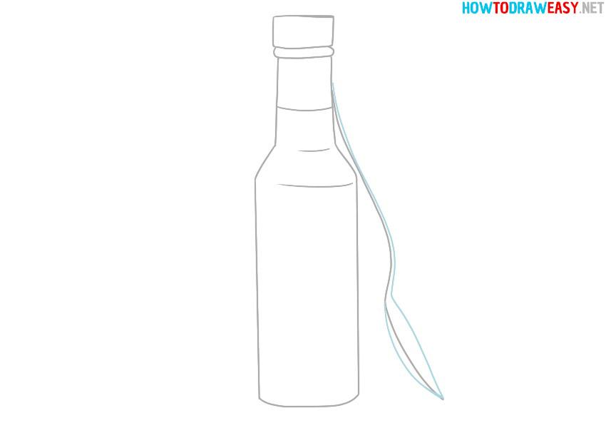 easy bottle drawing
