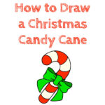 How to Draw a Christmas Candy Cane