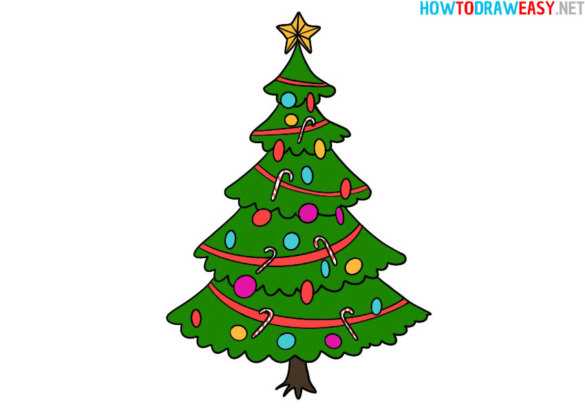 how-to-draw-a-christmas-tree-easy-step-by-step