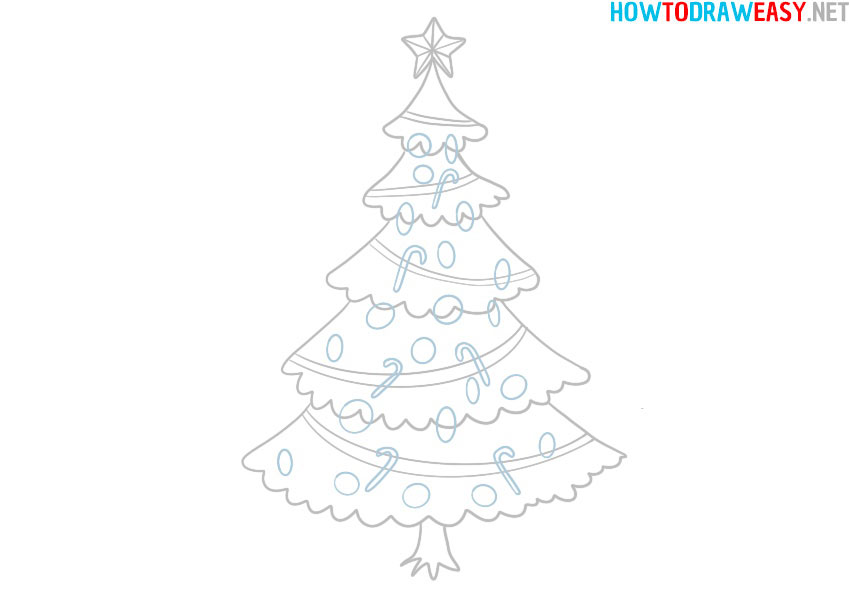 how-to-draw-a-christmas-tree-easy