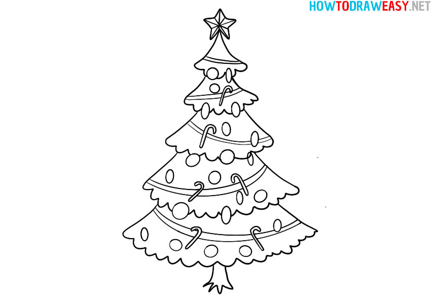 how-to-draw-a-christmas-tree-for-kids