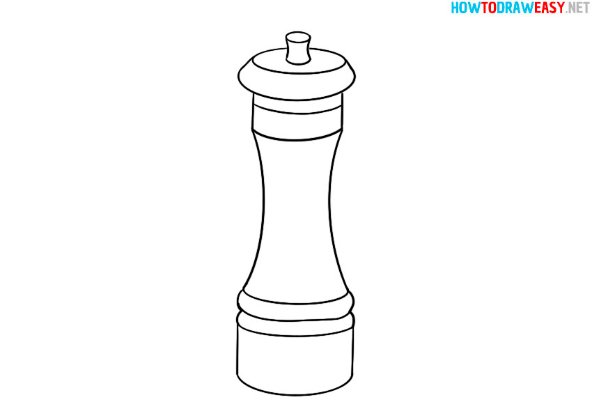 pepper mill drawing coloring pages