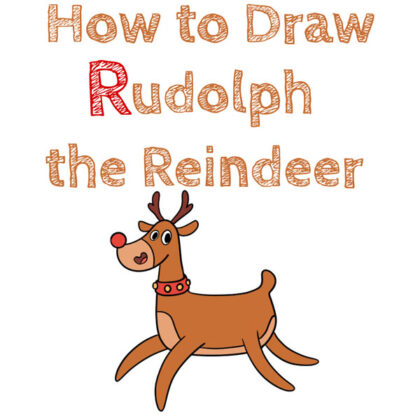 reindeer-the-red-nosed-drawing-for-kids-beginners