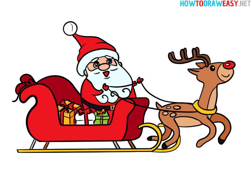 santa-on-a-sleigh-drawing-tutorial