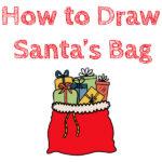 How to Draw Santa's Bag