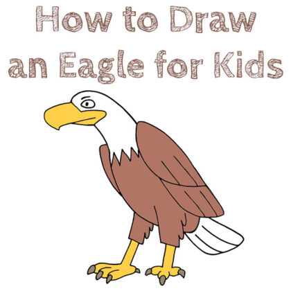 How to Draw an Easy Eagle