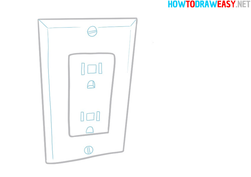drawing of an electrical outlet