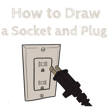 how to draw plug and socket