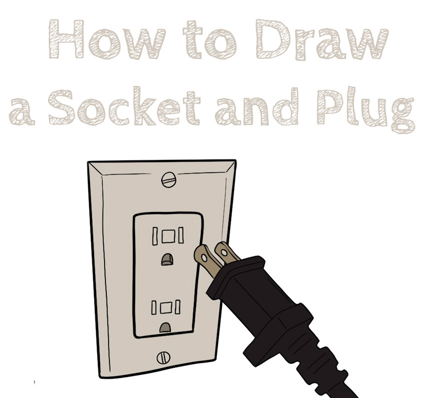 how to draw socket and plug