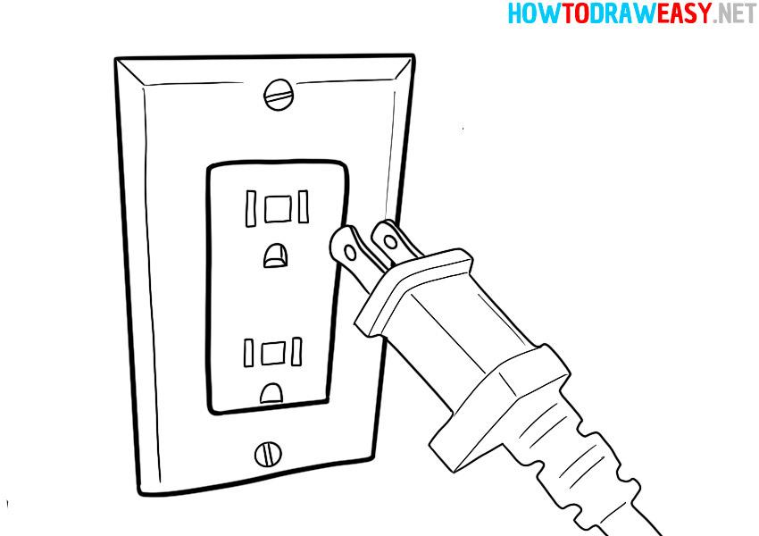 plug and socket drawing coloring