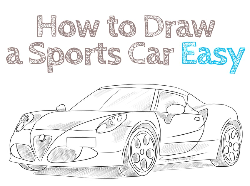 how to draw a sports car easy step by step