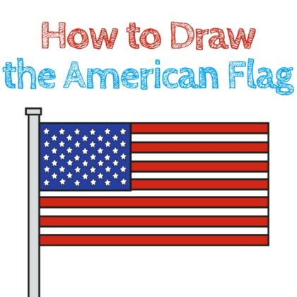 American Flag How to Draw