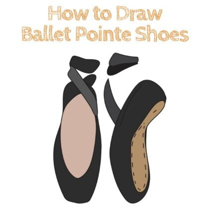Ballet Shoes How to Draw