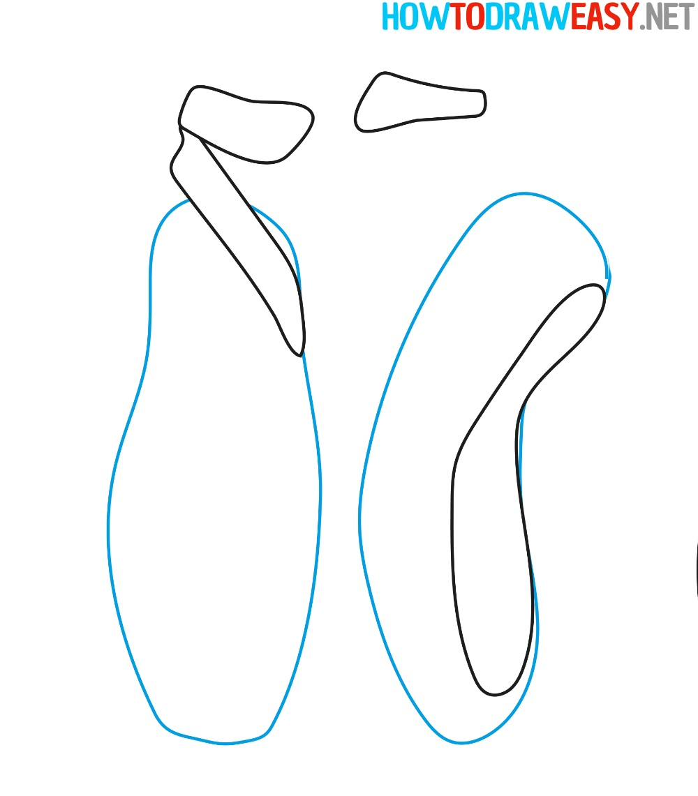 Drawing Tutorial Ballet Shoes Pointe Easy