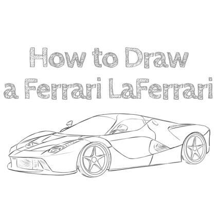 Ferrari LaFerrari Drawing Guide Easy