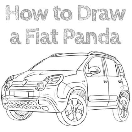 Fiat Panda Drawing Tutorial for beginners