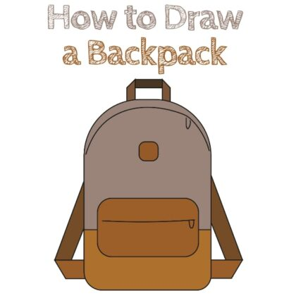 How to Draw a Backpack Easy Tutorial