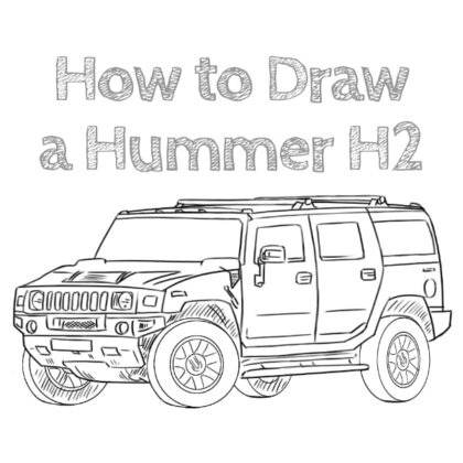 How to Draw a Hummer H2 for Beginners
