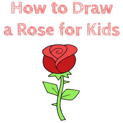 How to Draw a Rose for Children
