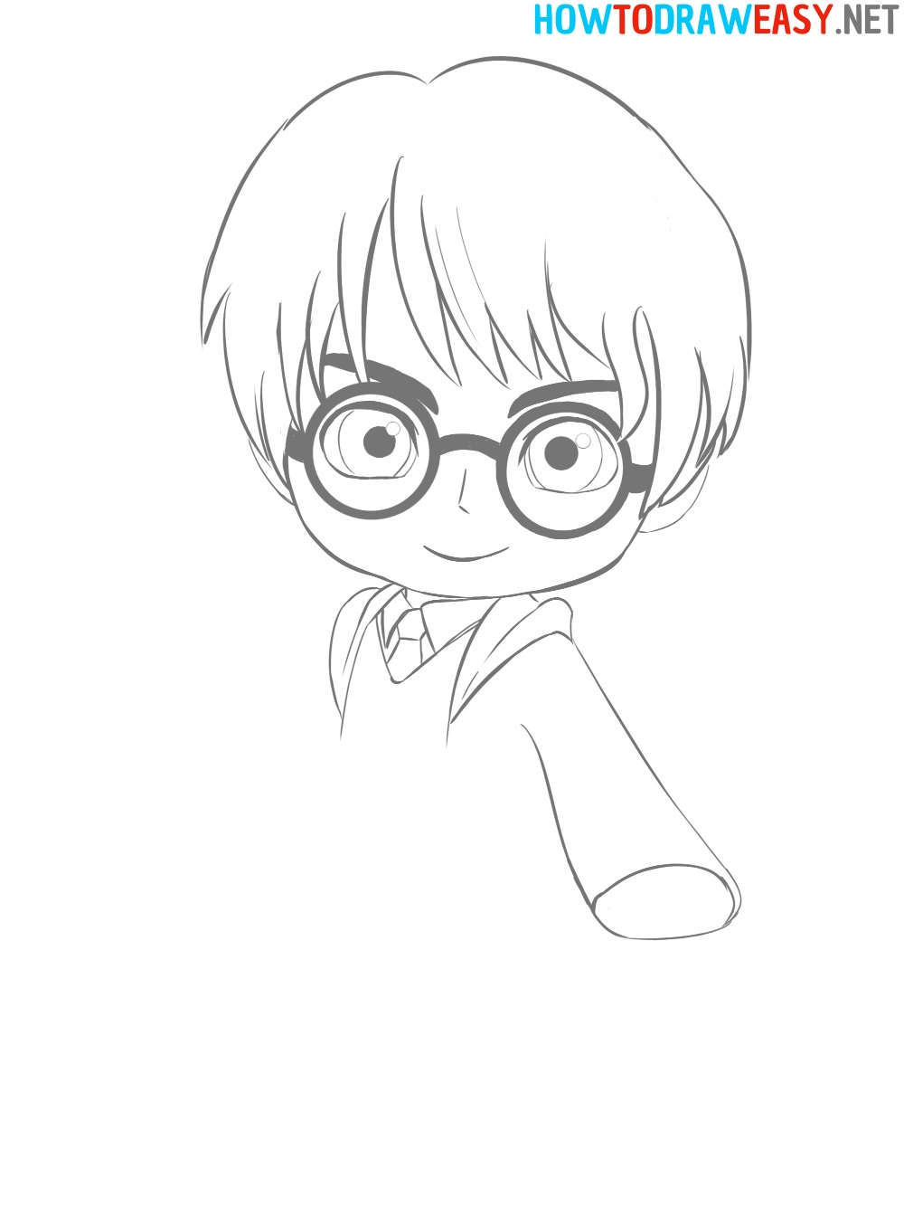 Anime Harry Potter Drawing